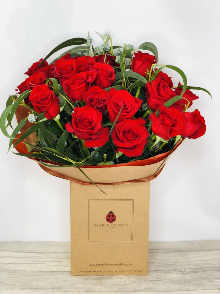 Happy Anniversary 24 Red Roses Handtied: Booker Flowers and Gifts