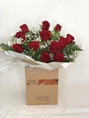 Dozen Red Roses - Flowers in Water