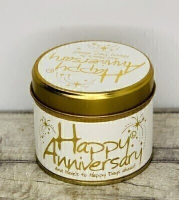 Happy Anniversary Scented Candle By Lily Flame: Booker Flowers and Gifts