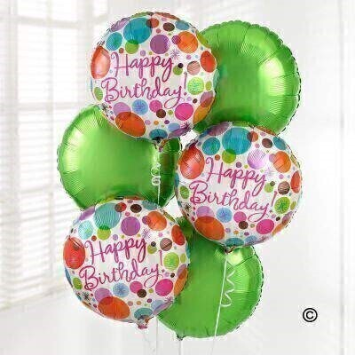 Happy Birthday Balloon Bouquet: Booker Flowers and Gifts