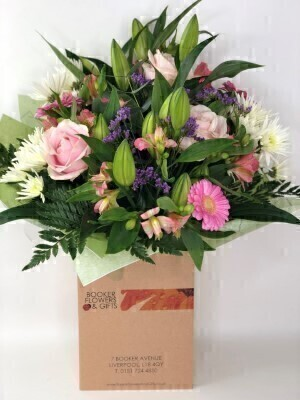 Happy Birthday Country Garden Hand Tied - X LARGE: Booker Flowers and Gifts