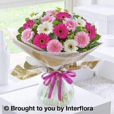 Happy Birthday Germini Hand Tied - Standard: Booker Flowers and Gifts