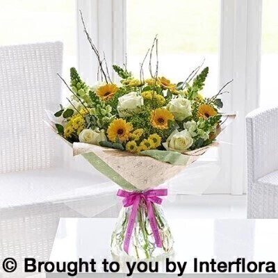 Happy Birthday Golden Charm Hand Tied Extra Large: Booker Flowers and Gifts