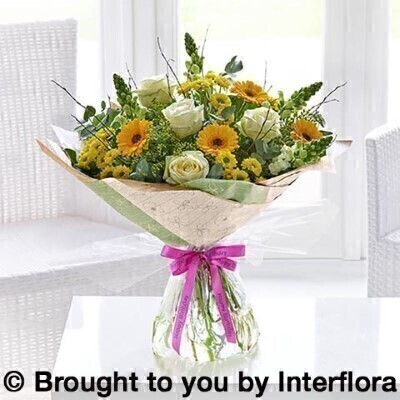 Happy Birthday Golden Charm Hand Tied Large: Booker Flowers and Gifts