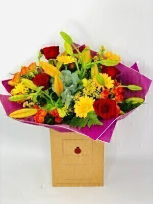 Happy Birthday Golden Glory Handtied Extra Large: Booker Flowers and Gifts