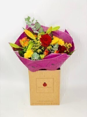 Vibrant Birthday Flowers In Water