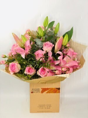 Happy Birthday Pink Pop Hand Tied Extra Large: Booker Flowers and Gifts