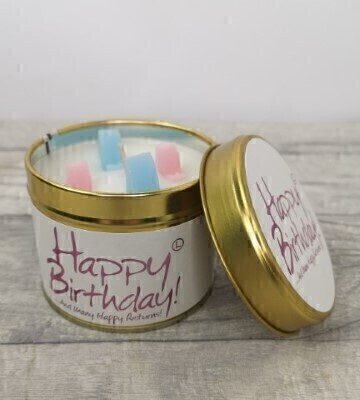 Happy Birthday Scented Candle By Lily Flame: Booker Flowers and Gifts