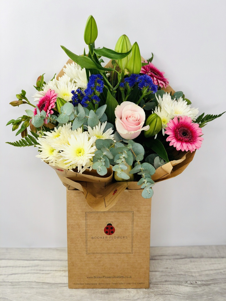 Happy Birthday Treasured Time Hand Tied: Booker Flowers and Gifts