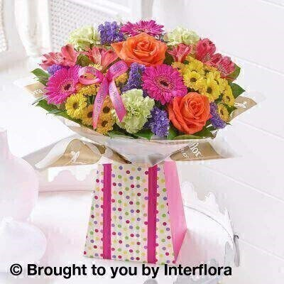 Happy Birthday Vibrant Gift Box - Large: Booker Flowers and Gifts