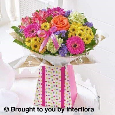 Happy Birthday Vibrant Gift Box - Standard: Booker Flowers and Gifts