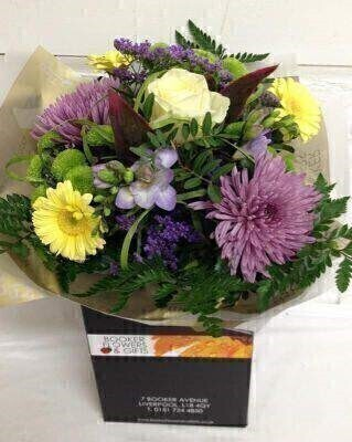 Harmonise Calming Pastel Flowers Hand Tied Bouquet: Booker Flowers and Gifts