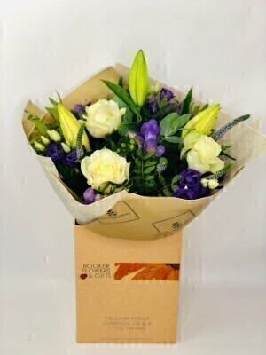 Iced Violet Purple Hand Tied Extra Large: Booker Flowers and Gifts