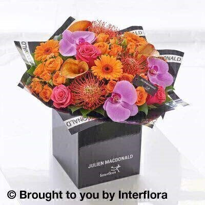 Julien Macdonald Autumn Calla Lily and Orchid Hand Tied: Booker Flowers and Gifts