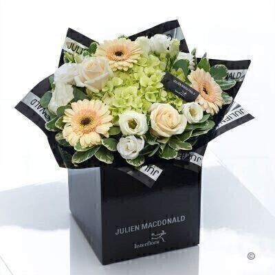 Julien Macdonald Divine Hydrangea and Rose Hand-tied: Booker Flowers and Gifts