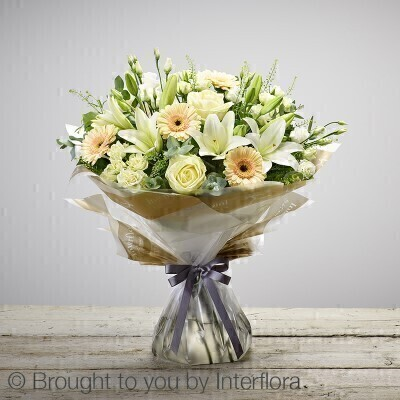 Large New Baby Hand-tied: Booker Flowers and Gifts
