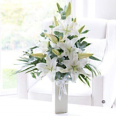 White Flowers - Lilies in a Vase
