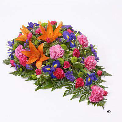 Large Vibrant Teardrop Spray | Funeral Flowers