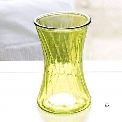 This lime curved glass vase with a swirl effect is the perfect finishing touch for any of our bouquets - and makes a lovely keepsake that can be used all year round.Height: 19cm - Vase Top Diameter: 12cm.