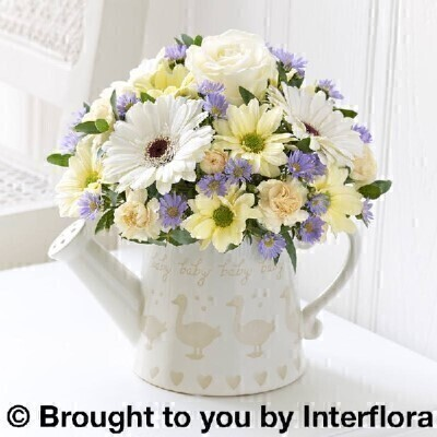 Cream and Lilac Flowersandnbsp;-andnbsp;Flowers in Oasis
