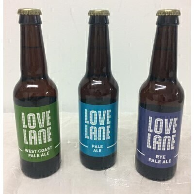 Liverpool Craft Beer Beer Trio Love Lane by Higsons Brewery: Booker Flowers and Gifts