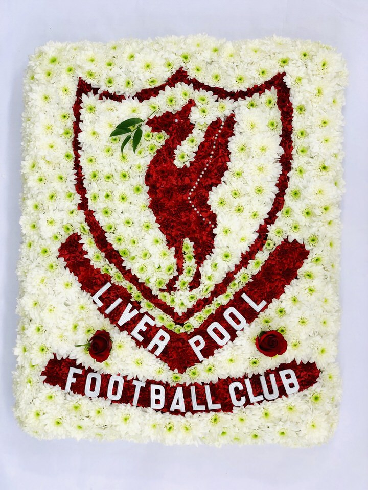 Liverpool Football Club Flag Funeral Flowers: Booker Flowers and Gifts