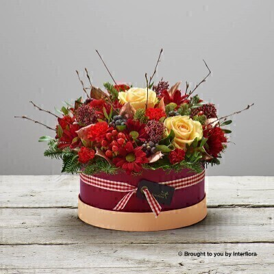 Love and Laughter Hatbox of Flowers: Booker Flowers and Gifts