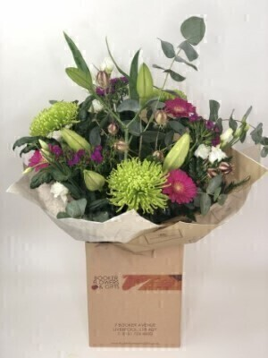 Lovely Lily and Green Bloom Bouquet: Booker Flowers and Gifts