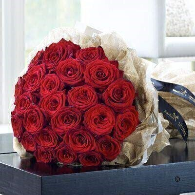 Luxury 24 Grand Prix Rose Hand-tied: Booker Flowers and Gifts