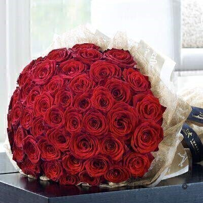 Luxury 50 Grand Prix Rose Hand-tied: Booker Flowers and Gifts
