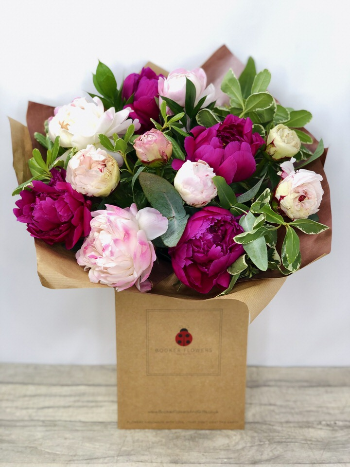 Luxury Peony Bouquet of Flowers: Booker Flowers and Gifts