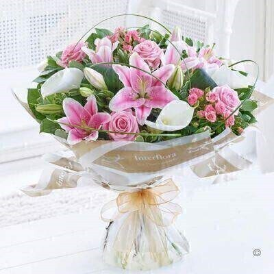 Luxury Pink Rose and Calla Lily Hand Tied: Booker Flowers and Gifts