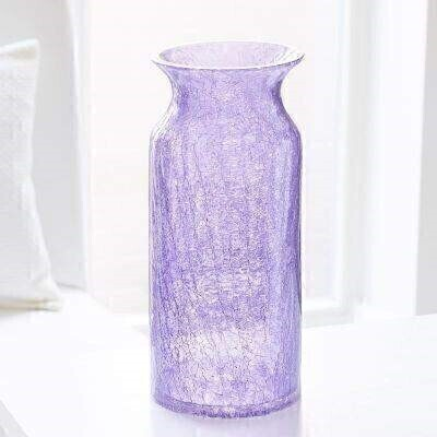 Luxury Tall Lilac Crackled Glass Vase: Booker Flowers and Gifts