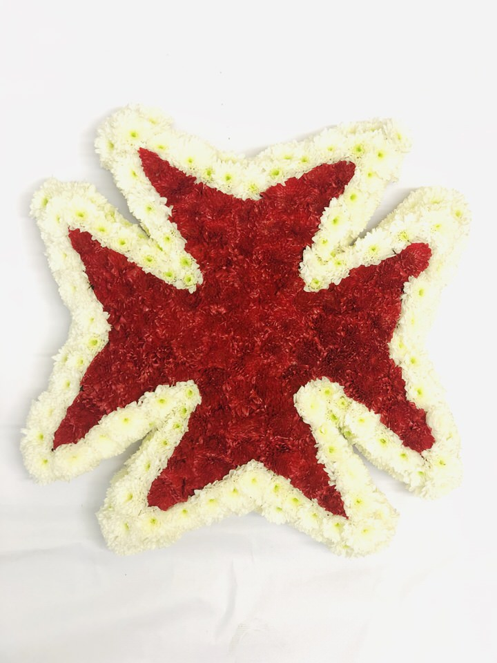 Maltese Cross Funeral Tribute: Booker Flowers and Gifts