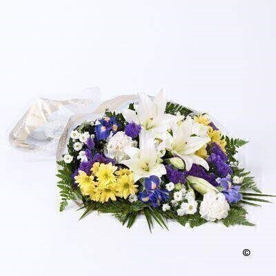 Mixed Flowers in Cellophane: Booker Flowers and Gifts
