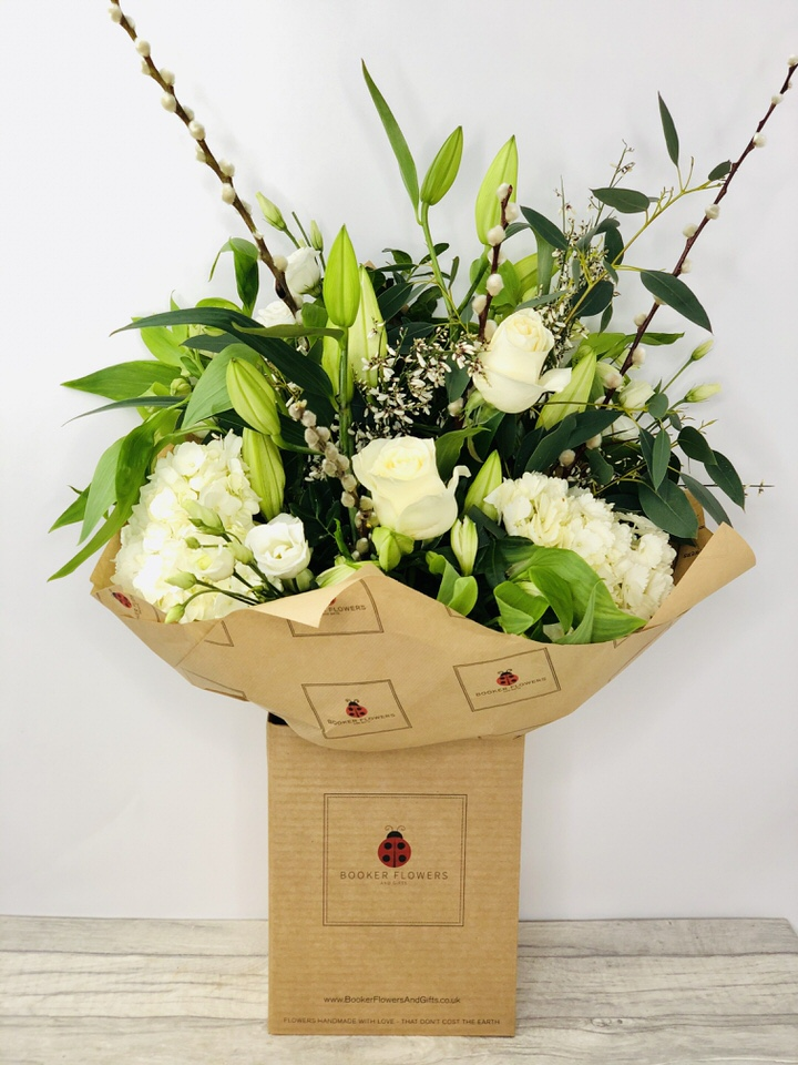 Extra-Large White and Green Classic Mothers Day Flowers - Hand Delivered
