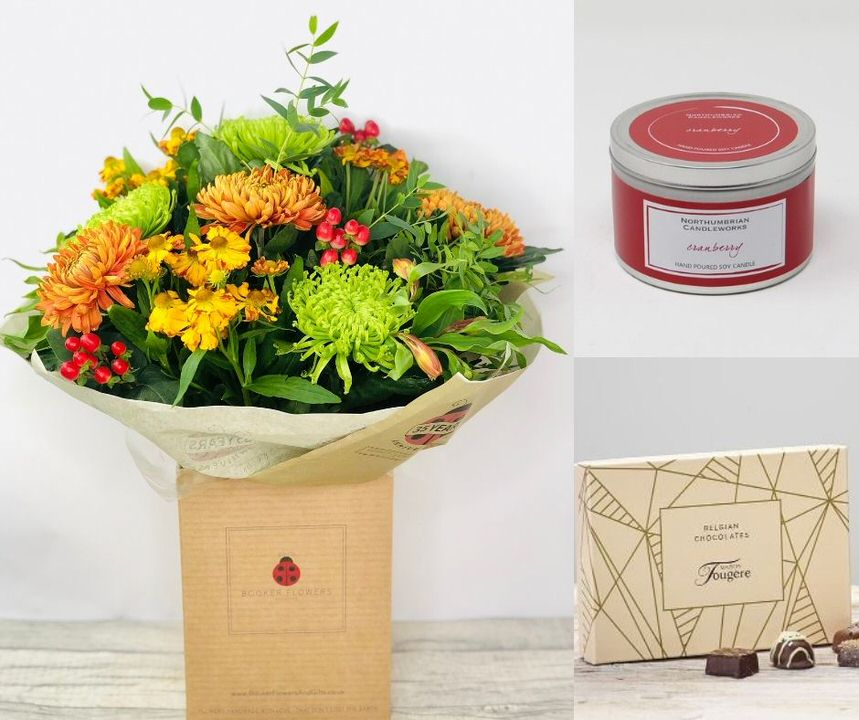 November Birthday Flowers Gift Set: Booker Flowers and Gifts