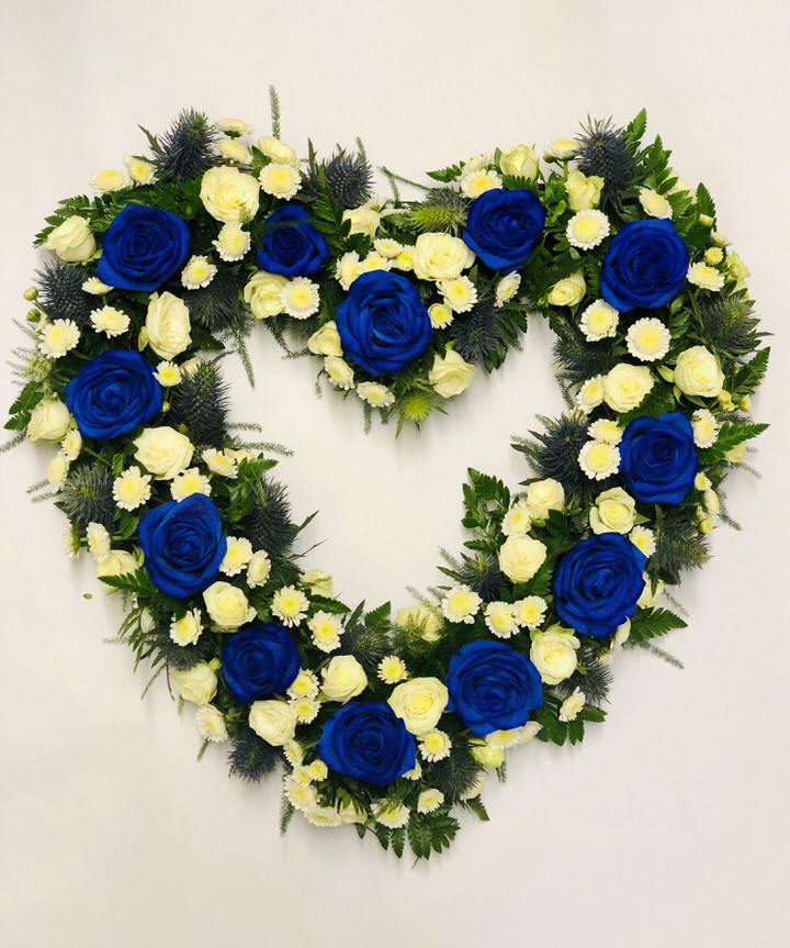 Open Heart Blue and White: Booker Flowers and Gifts