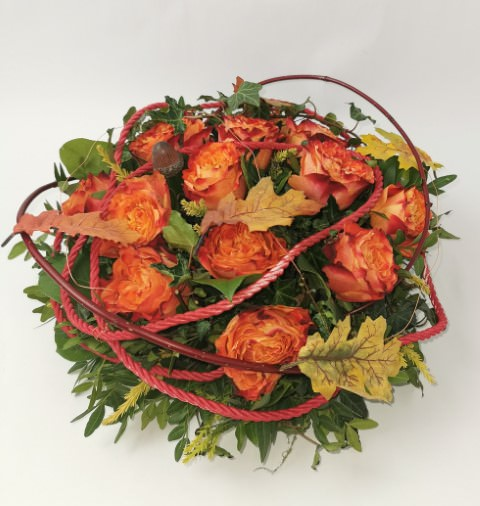 Orange Rose Posy | Funeral Flowers