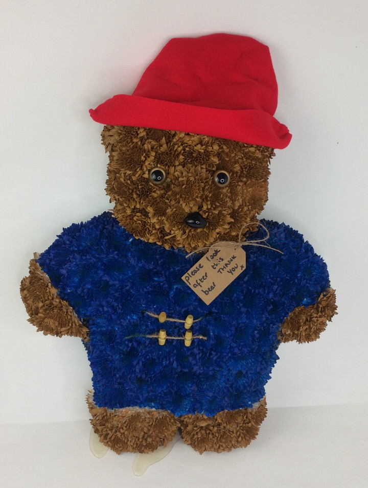 Paddington Bear | Teddy Bear Funeral Flowers