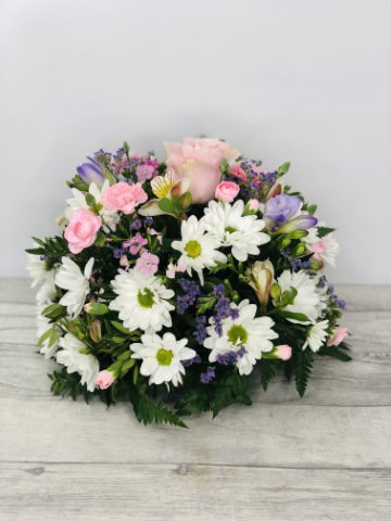 Small Pink Lilac and White Table Arrangement