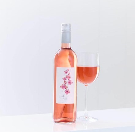 Pink Orchid Zinfandel Rose Wine: Booker Flowers and Gifts