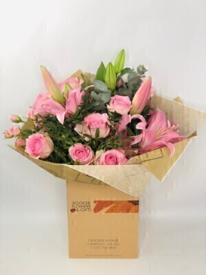 Pink Pop Hand Tied Large: Booker Flowers and Gifts