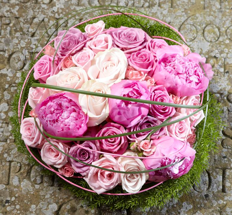 Pink Rose and Peony Posy | Funeral Flowers