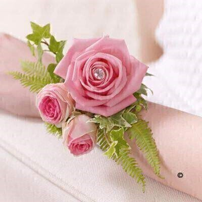 Pink Flowers -andnbsp;Flowers on a Bracelet