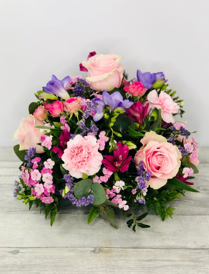 Large Pink and Lilac Table Arrangement