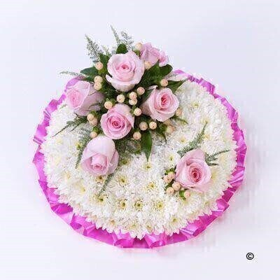 Pink and White Posy: Booker Flowers and Gifts