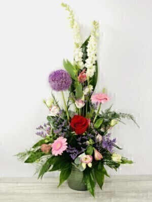 Pretty Summer Flowers Pot Arrangement: Booker Flowers and Gifts