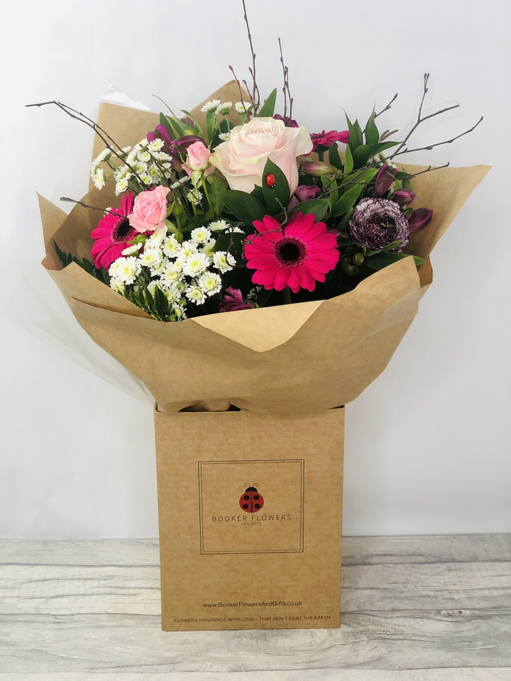 Pretty in Pink Hand-tied Bouquet: Booker Flowers and Gifts