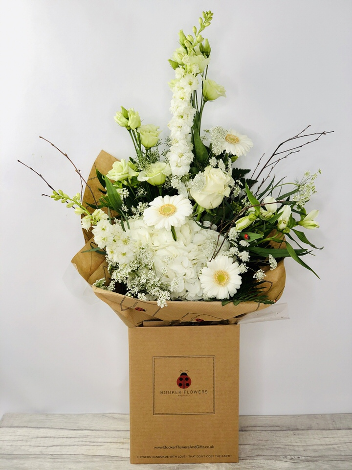 Pure White Hydrangea Bouquet: Booker Flowers and Gifts
